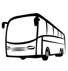 Bus symbol vector image