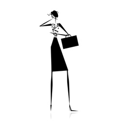 Business lady silhouette for your design vector image