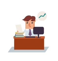 Business Man Thinking Cartoon Character vector