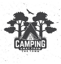 Camping away from town concept for vector
