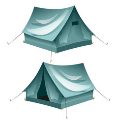 cartoon tent set isolated vector image