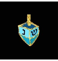 Chanukah sevivon Gold Doodle zentangle sketch vector