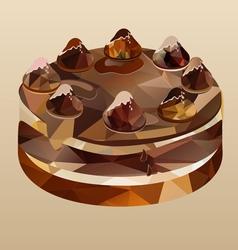 chocolate cake polygon vector image