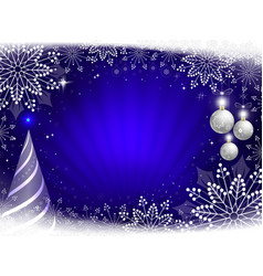 christmas dark blue composition with beautiful vector image