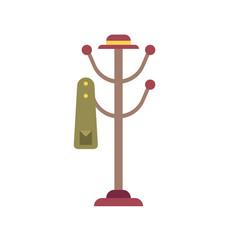 Coat rack flat icon vector