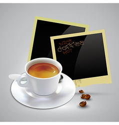 Coffee document template vector