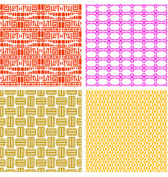 colorful african ethnic pattern set vector image
