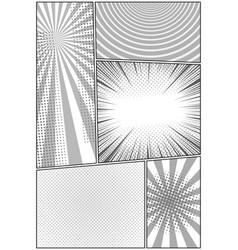 Comic elegant composition vector