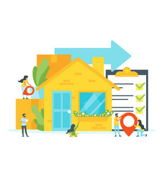 Concept for moving home vector