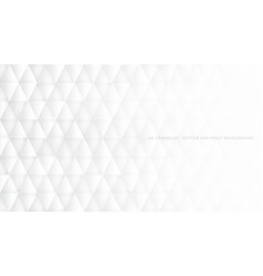conceptual 3d triangles technologic white vector image