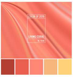 coral color of the year 2019 abstract background vector image