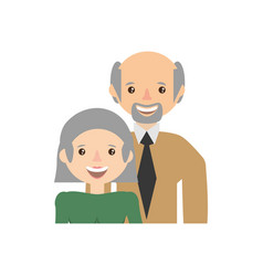 Couple family grandparents image vector