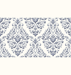 damask seamless emboss pattern background vector image