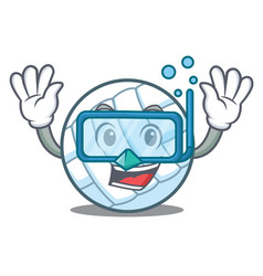 diving volley ball character cartoon vector image