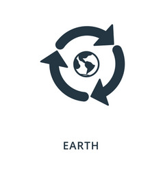 earth icon flat style icon design ui vector image