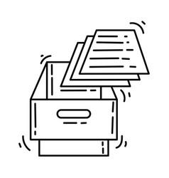 ecommerce icon storage hand drawn icon set vector image