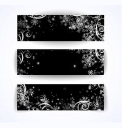 elegant christmas black and white banner vector image