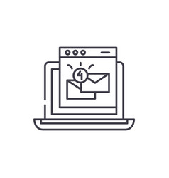 email marketing line icon concept email marketing vector image