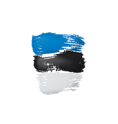 estonia flag on a white vector image