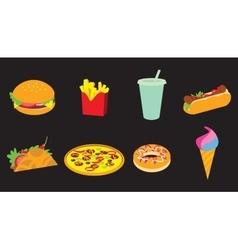 Fastfood icon set vector image