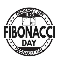 fibonacci day sign or stamp vector image