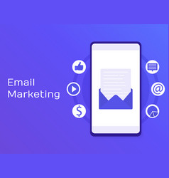 Flat for email marketing vector