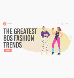 Greatest 80s fashion trend landing page vector