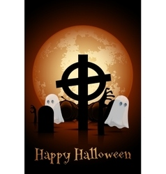 Halloween Zombie Party Poster Holiday Card vector image