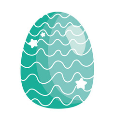 happy easter decorative egg ornament season icon vector image