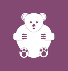 Icon teddy bear vector