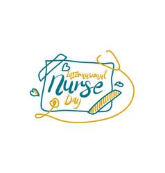 international nurse day vector image