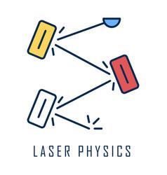 Laser physics color icon optics branch quantum vector