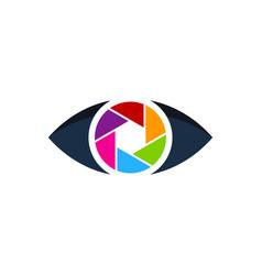 lens eye logo icon design vector image