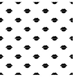 lips pattern seamless vector image