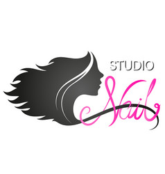 Manicure nails studio symbol for business vector
