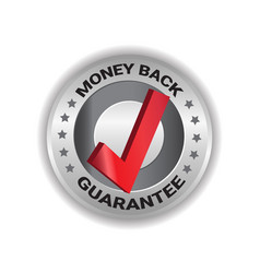 money back tag sign guarantee badge template label vector image