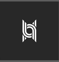 Monogram letter u logo linear design initials uu vector