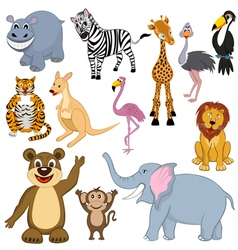 mult animals set vector image vector image