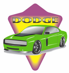 Muscle car 1 vector