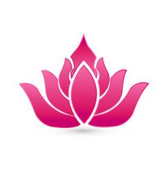 pink lotus leafs icon logo vector image