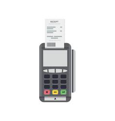 pos terminal icon credit card processing vector image