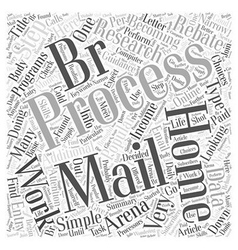 Process E mails Online For Money Word Cloud vector image