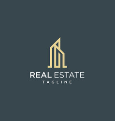 real estate logo design inspiration vector image