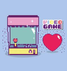 Retro videogame console vector