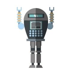 Robotic system engineer shadow vector