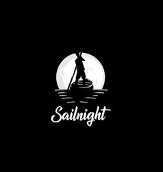 sail night logo vector image