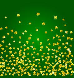shamrock background for saint patricks day vector image