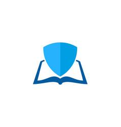 shield book logo icon design vector image
