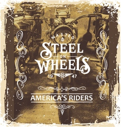 steel on wheels vector image