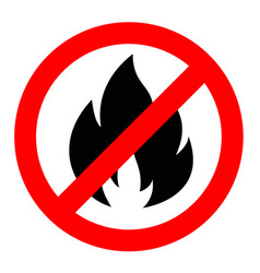 stop or do not fire sign icon prohibition vector image